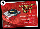 100 Personalised Ages 18th, 21st, 30th, 40th, 50th Birthday Invitations