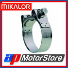 63Mm - 68Mm Mikalor W2 Stainless Steel Hose Clamp Clip 10 Pack Silicone