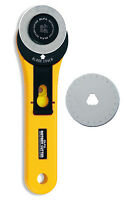 Olfa Rotary Cutter 45mm RTY-2/G + Spare Replacement 45mm Blade - Free Postage