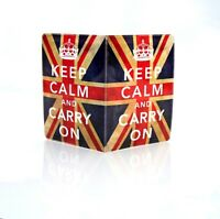 Keep Calm And Carry On U.Jack Passport Holder Cover