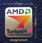 AMD Turion 64 x2 MOBILE TECHNOLOGY sticker 17mm x 19mm