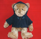 2009 Burberry Bear Plush Navy Hooded Jacket Toggle Nova Check Plaid EXC COND!