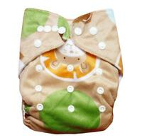 sweet New 1 PCS Reusable Lot Baby Washable Cloth Diaper Nappies +1INSERTS M11