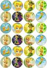 24 TINKERBELL **SWEET** EDIBLE CUPCAKE/FAIRY CAKE TOPPERS RICE PAPER