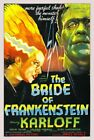 Vintage Old Movie Poster Bride Of Frankenstein 1935 Print Art A4 A3 A2 A1