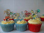 12 DISNEY ALICE IN WONDERLAND EDIBLE CUPCAKE/FAIRY CAKE TOPPERS **STAND UPS**
