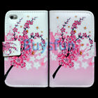 Flower style Wallet Leather Cover Case Skin for Apple iPod Touch 4 4G 4TH