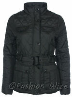 Girls Padded Quilted Winter Jacket Top Black  Ages 7 8 9 10 11 12 13
