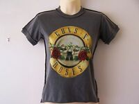 *NEW* GUNS 'N' ROSES GNR ROCK MY WORLD LADIES T SHIRT GREY SIZE XS 6-8 S 8-10