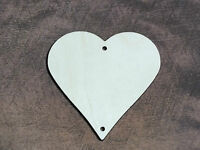 25 x  Wooden Heart Crafts Birthday Decoration Hanging Shape Unpaited Tag 8cm 1+1
