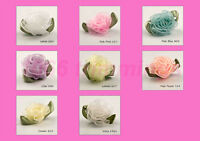 100 Organza Chiffon Sheer Ribbon Cabbage Rose Flowers  Many Colours Listed