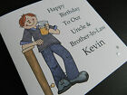 Personalised Handmade Mens Birthday Beer Card - Dad, Brother, Friend, Son, Uncle