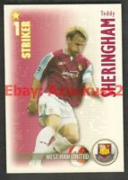 Teddy Sheringham West Ham United Shoot Out Football Trade Card