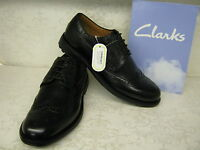 Clarks Glenmore Limit Black Leather Formal Lace Up Brogue Shoes