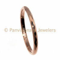 Tungsten Carbide Ring 2MM Facet Rose Gold IP Wedding Band Stackable, Midi, Toe