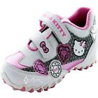 Girls Hello Kitty Jewel Velcro Trainers Shoe Sizes 7-1