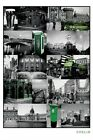 DUBLIN IRELAND POSTER ~  FAMOUS PLACES COLLAGE 24x36 Castle Pub Guinness Travel