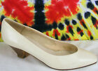 sz 7 B vintage 80's off-white leather NICKELS heels pumps shoes