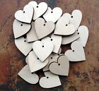 25x Wooden Birch Heart Shapes, Embellishments or Craft 35mm