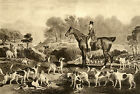 "FOXHOUND FOX HUNTING HORSE DOG ART PRINT ""ENGRAVING"" (Large) Ralph John Lambton"