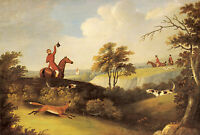 FOXHOUND FOX HUNTING DOG HORSE FINE ART PRINT (Large) - by John Sartorius