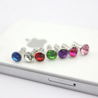 Crystal Diamond 3.5mm Earphone Jack Dust proof/Cap Plug Stopper for iPhone 3G 4S
