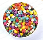 10X8MM Wholesale 40/100pcs Turquoise Carved Skull Head Spacer Beads 10 Colors