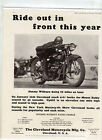 (MOTORCYCLE AD) CLEVELAND MOTORCYCLE MFG. JIMMY WILBURN 1928