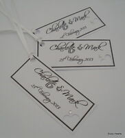12  PERSONALISED WEDDING / Wishing Tree / Gift Tags / Favours / Name Place