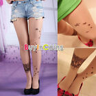 Star Pattern Realistic Personality Tattoo Pantyhose Stockings Tights Leggings HH