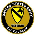 UNITED STATES Army Veteran 1st Cavalry Decal Window Bumper Sticker NEW