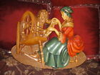 Vintage Spinning Jenny Style Wall Plaque-Unusual and Very Heavy-Great Detailing!