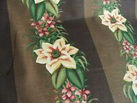 2 20 x 20 tropical flower pillow cover case throw Brown tones yellow green
