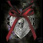 RELIQUARY HEART LOCKET PENDANT Alchemy Gothic Pewter