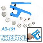 Watch Back Case Cover Crystal Presser Press Closer Glass Fitting Plier Kit Tools