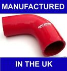"""63mm 2 1/2"""" SILICONE ELBOW 90 DEGREE HOSE RED UK MADE"""