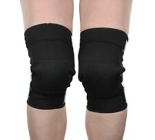 2 Black Mighty Grip Pole Dance Tacky Open Back Knee Protectors for Pole Dancing