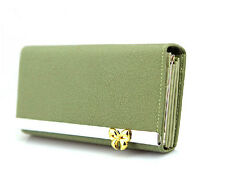 new edition matte Bow Purse bow hardware ladies purse wallet