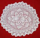 1930s ART DECO HAND KNITTED CROCHET DOILY TABLE COVER