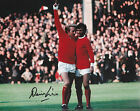 Denis Law SIGNED Manchester United Photo - George Best - Autograph + COA - 10x8