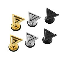 TITANIUM STEEL SCREW BACK PYRAMID TRIANGLE ROCK PUNK GOTH MENS STUD EARRING