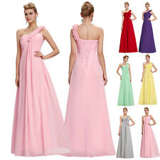 LONG Red Chiffon Formal Evening Ball Gown Cocktail Prom Party Bridesmaid Dresses