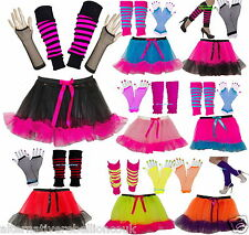 NEON TUTU SKIRT SET GIRLS PARTY