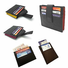 MENS WOMEN REAL GENUINE LEATHER HIGH QUALITY SLIM THIN WALLET OYSTER TRAVEL CARD