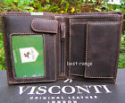 Wallet Real Leather Trifold New in Gift Box Visconti Style Hunter 709