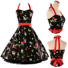 VINTAGE 1950's SWING HOUSEWIFE PARTY PROM EVENING DRESS ROCKABILLY PIN UP RETRO