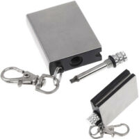 Metal Match Lighter Fire Starter Gas Oil Permanent Outdoor Camping w Key Chain