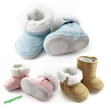 Hot Baby Infant Toddler Boys Girls Warm fur Winter Snow Shoes Boots 6-22 Months