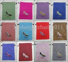 Wholesale fashion Shoes Covers mix Free Silk Embroidered Drawstring shoe bag x-8
