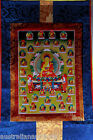 TIBETAN BUDDHIST BUDDHA  WALL HANGING THANKA WITH BROCADE 84x50cm #3